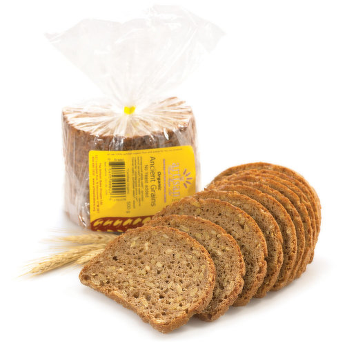 No yeast or wheat added. Hearty and nutritious with sprouted kamut kernels.