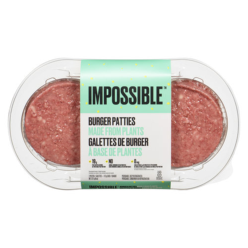 Packed with vitamins & minerals, it's not only good for you but for the planet! 19g protein, 0mg cholesterol & 8g saturated fat per serving. No animal hormones or antibiotics. Gluten free. 2 plant-based patties.
