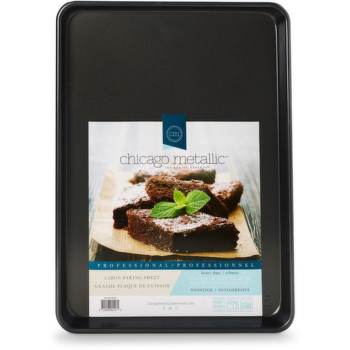 From cookies & jelly rolls to roasted veggies & croissants there's no job this pan can't do. Heavy Duty Steel Construction. Non-stick, easy release. Rounded corners prevent warping. Dishwasher Safe.