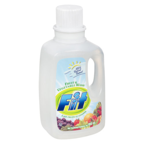 100% Natural. Removes 98% more pesticides & residues on non-organics. Leaves no after taste or smell.