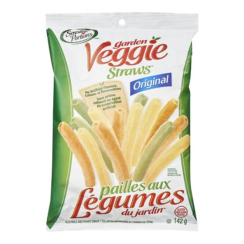 Made from real potatoes and flavored with tomatoes and spinach. These light and crunchy straw snacks are also great with your favorite low fat dip.
