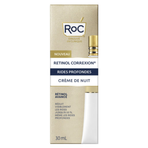 Clinically proven to make skin look10 years younger. This potent formula works through the night to deliver smoother, firmer, more radiant-looking skin.. Made with pure RoC Retinol, Americas #1 Most Awarded Retinol*, and our exclusive mineral complex for additional hydration & enhanced Retinol efficacy.