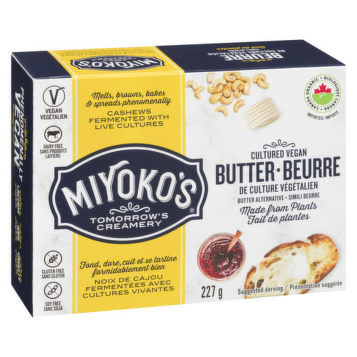 Made with organic coconut oil, this culinary game-changer brings plant-based buttery goodness to your morning toast & beyond. Will melt, brown & spread like butter. Certified organic.