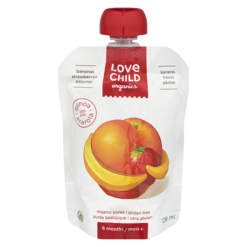 Baby Puree For 6 Months Plus, Gluten Free Organic Puree with Quinoa.