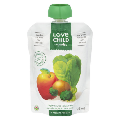 Baby Food Puree for 6 Months+ with Quinoa. Gluten Free.