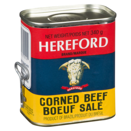 Canned Corned Beef. Product of Brazil.
