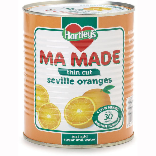 Imported from England. Made from premium Seville Oranges. Make your own marmalade. Just Add Sugar and Water.