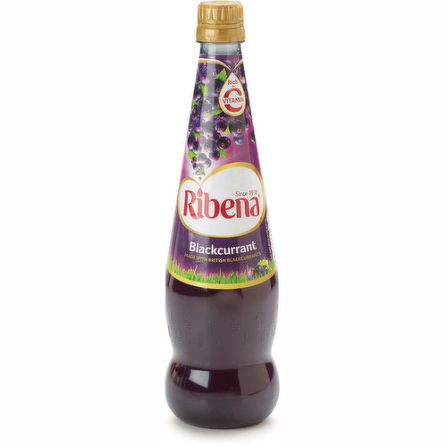 Made with British Blackcurrant.  Rich in vitamin C.No artificial colors or flavors