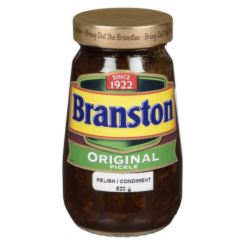 Branston Pickle is the Uk's favourite pickle and perfectly compliments cheese and ham sandwiches. For something different, try stirring Branston Pickle into pies, casseroles and stews for extra taste.