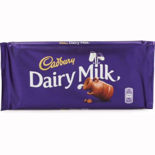 Deliciously creamy milk chocolate made with a glass and a half of fresh milk