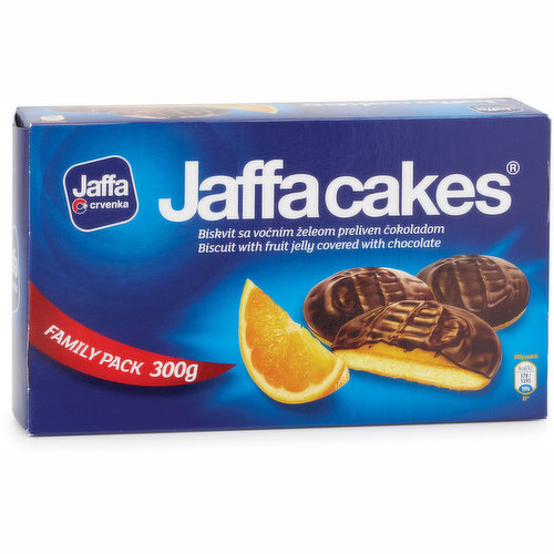 Enjoy the irresistible chocolatey orange flavoured jelly biscuits.