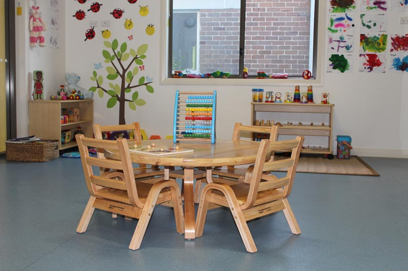 natural wood tables seating