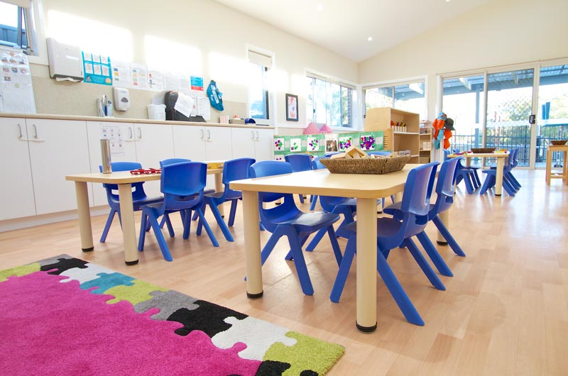 versatek tables and blue robust chairs