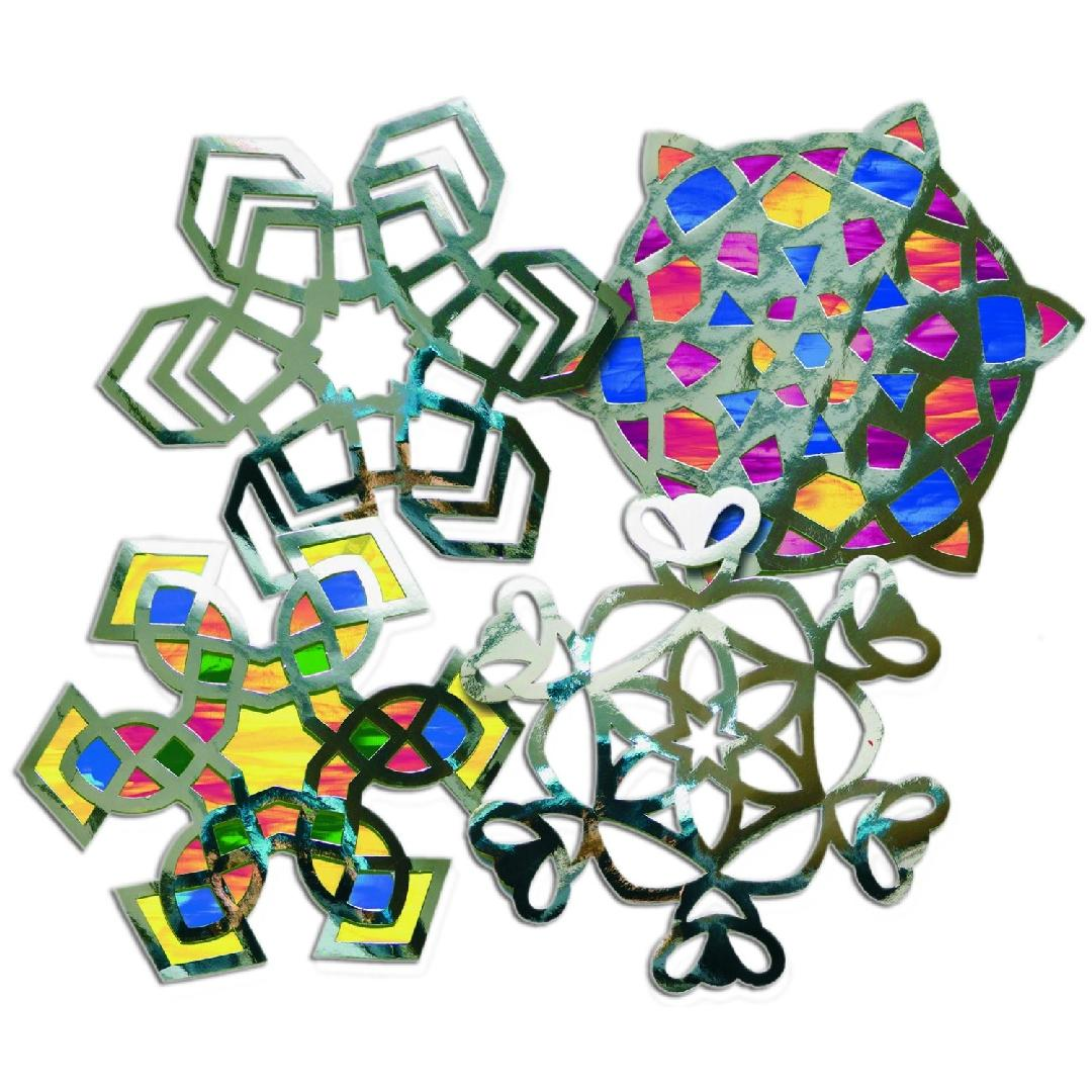 Snowflake Stained Glass Frames (24pcs)