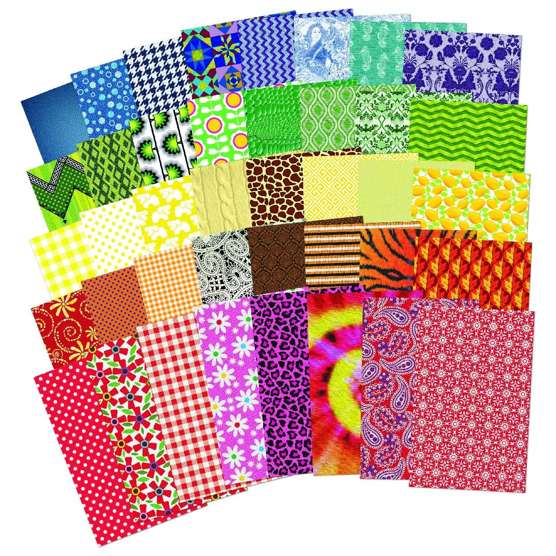 All Kinds of Fabric Paper (200pcs)