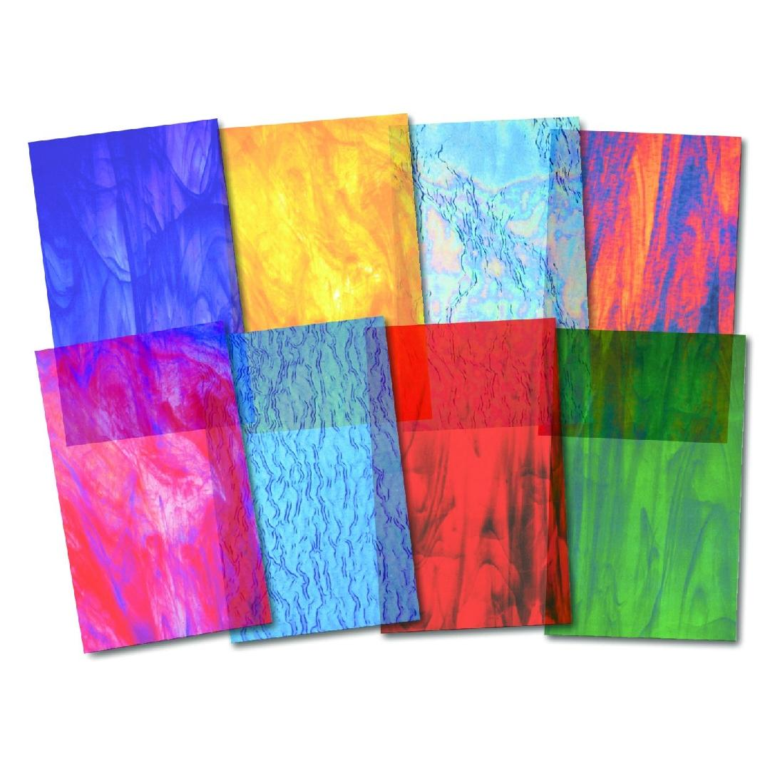 Stained Glass Craft Paper (24pcs)