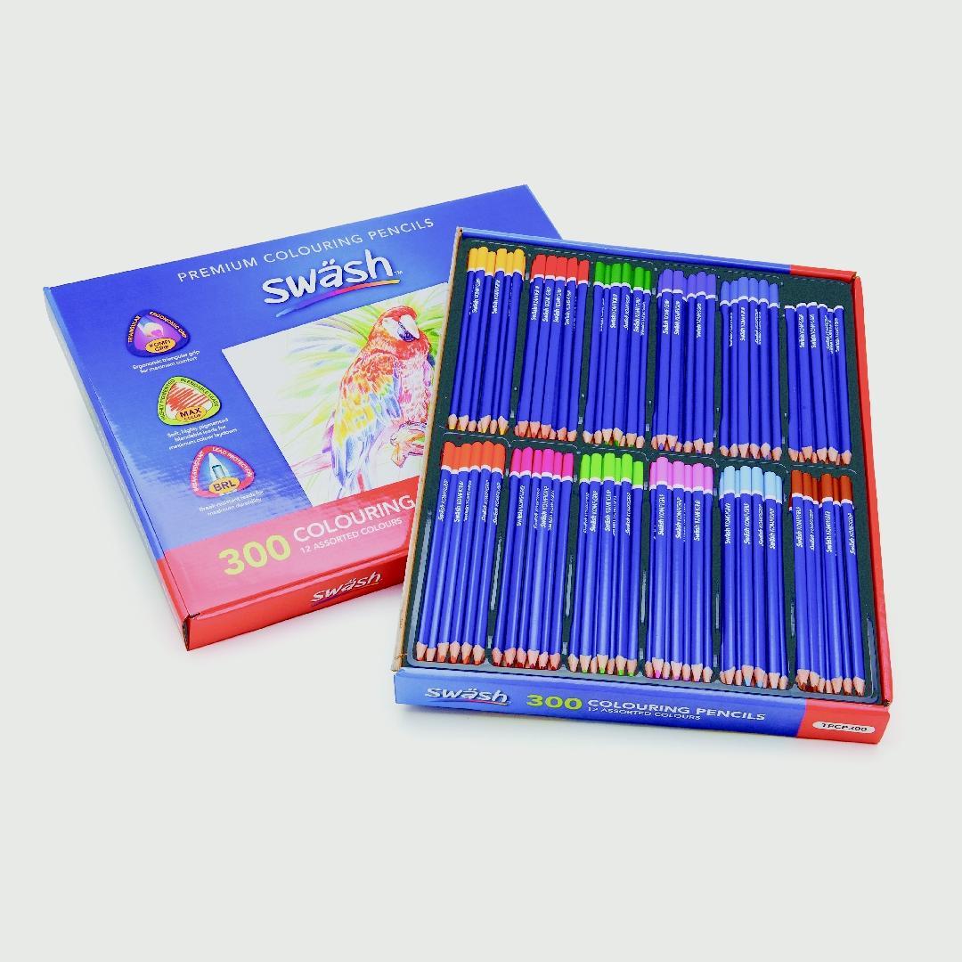 Komfgrip Giant Triangular Coloured Pencils (144pcs)