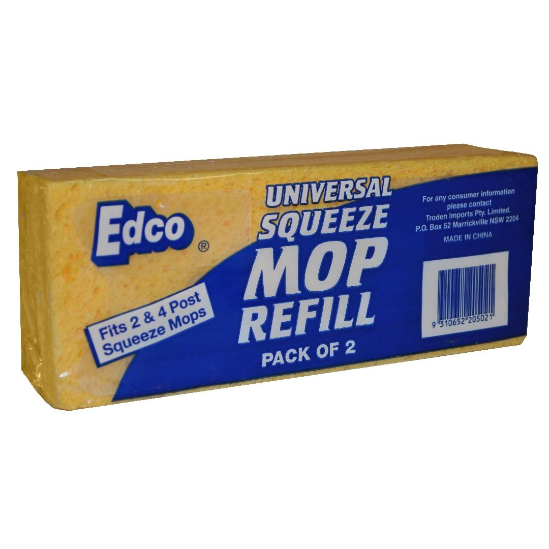 Premium Squeeze Mop Sponge Refill (2pk)