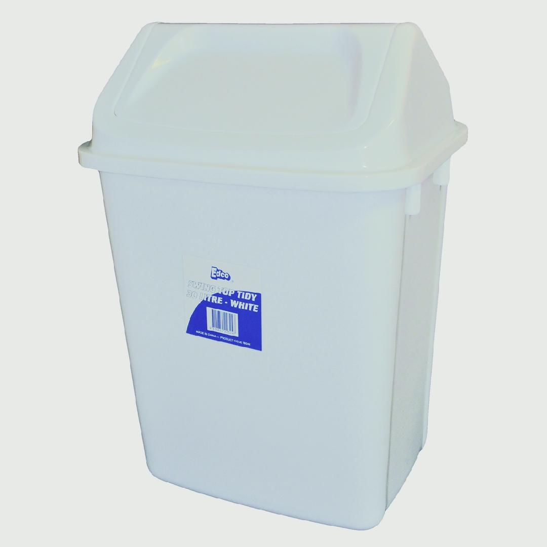 Swing Top Bin White (30 Litre)