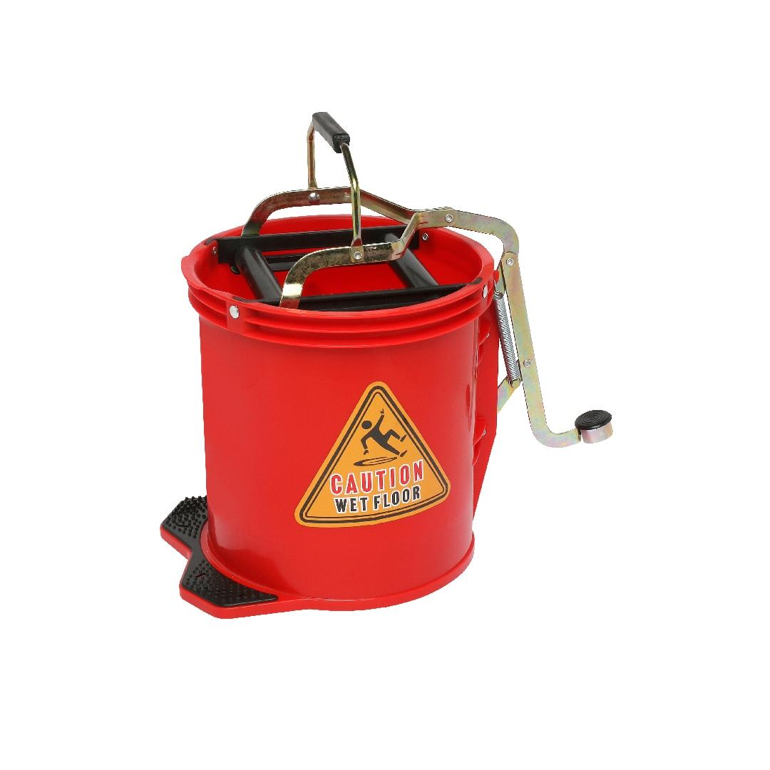 Heavy Duty Mop Wringer Bucket 16L Red