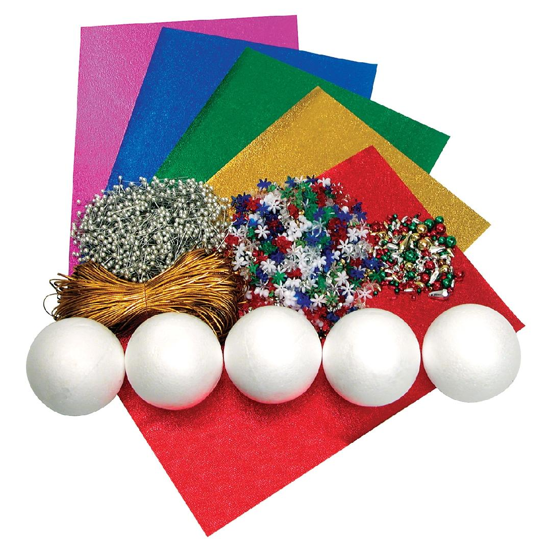 Christmas Balls Craft Kit (Set of 60)