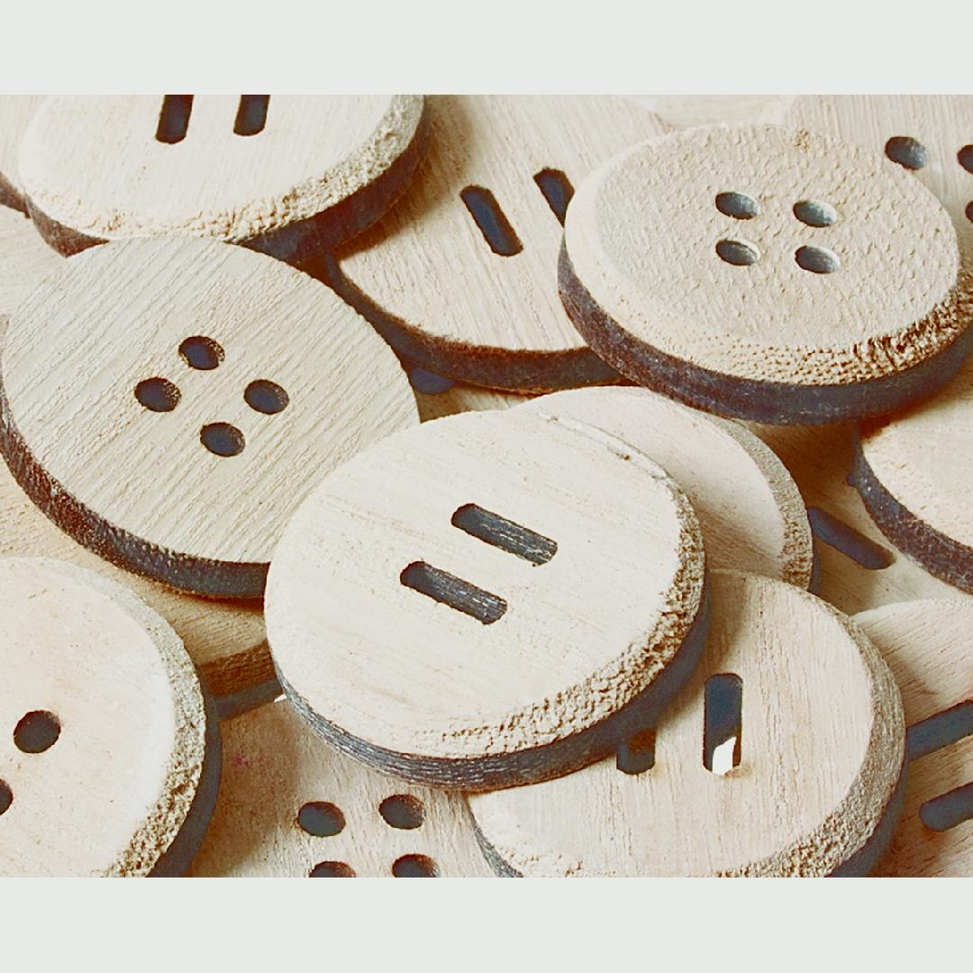 Giant Wooden Buttons (25pcs)