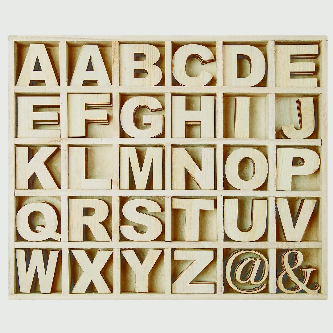 Wooden Alphabet Box (130pcs)