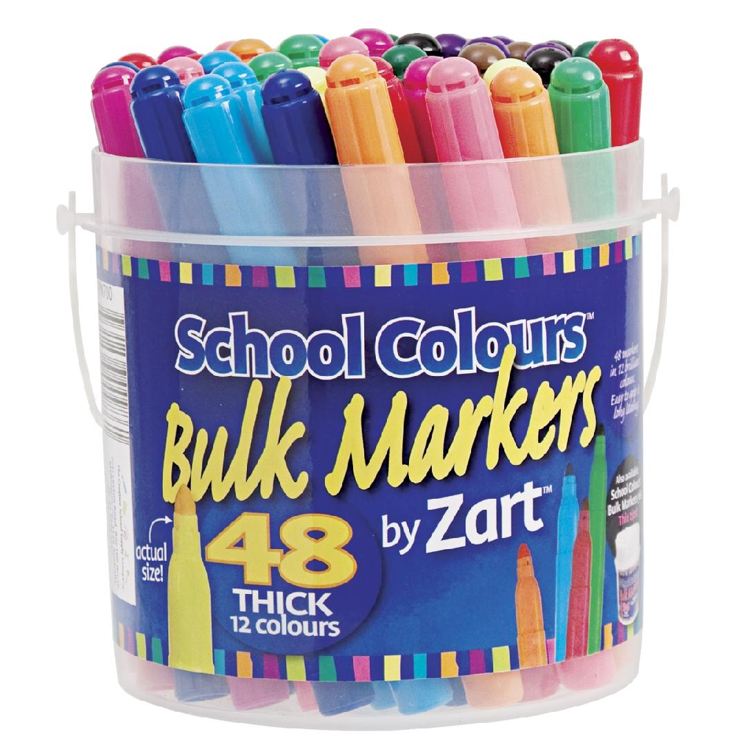 Coloured Thick Markers (Tub of 48)