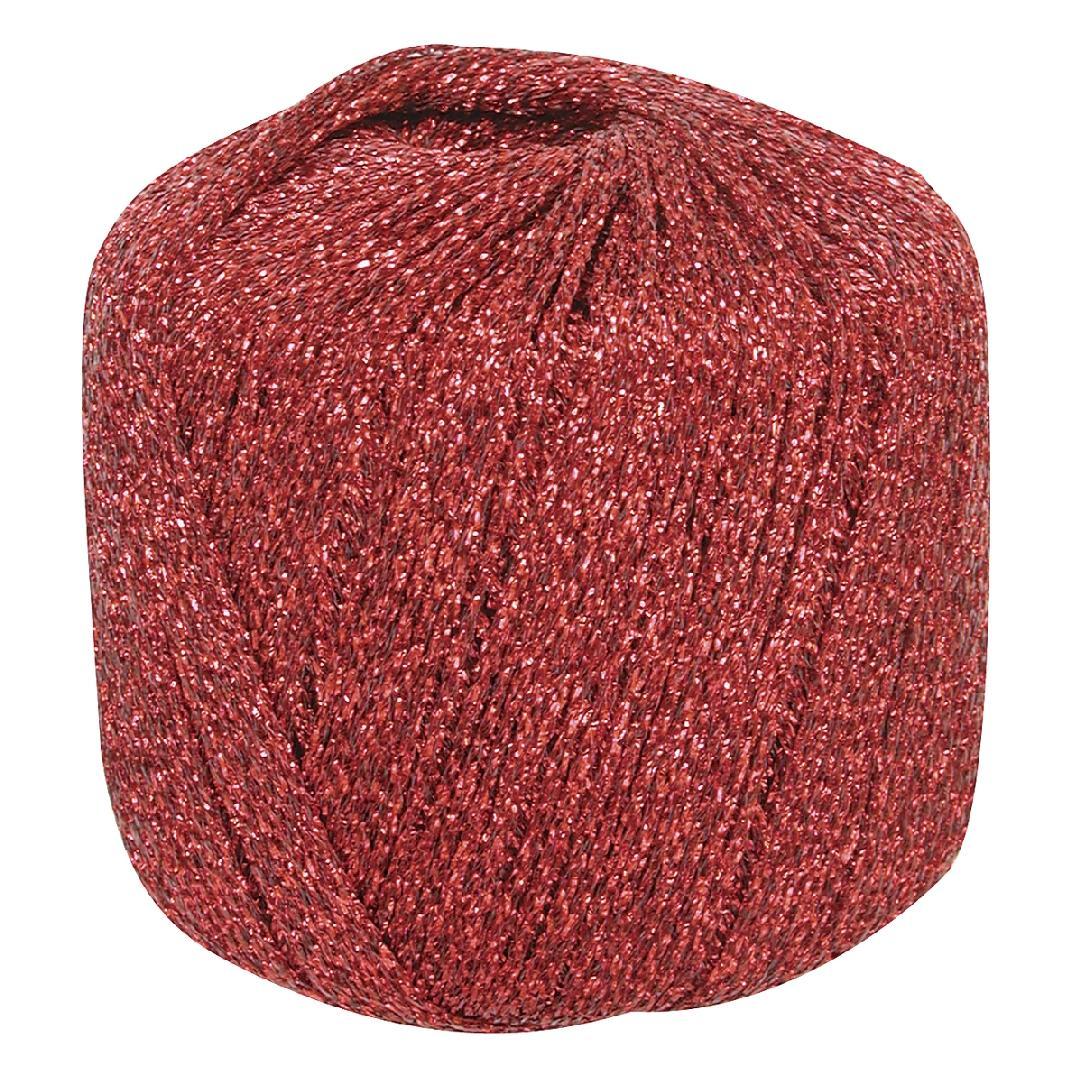 Metallic Yarn Red (20g)