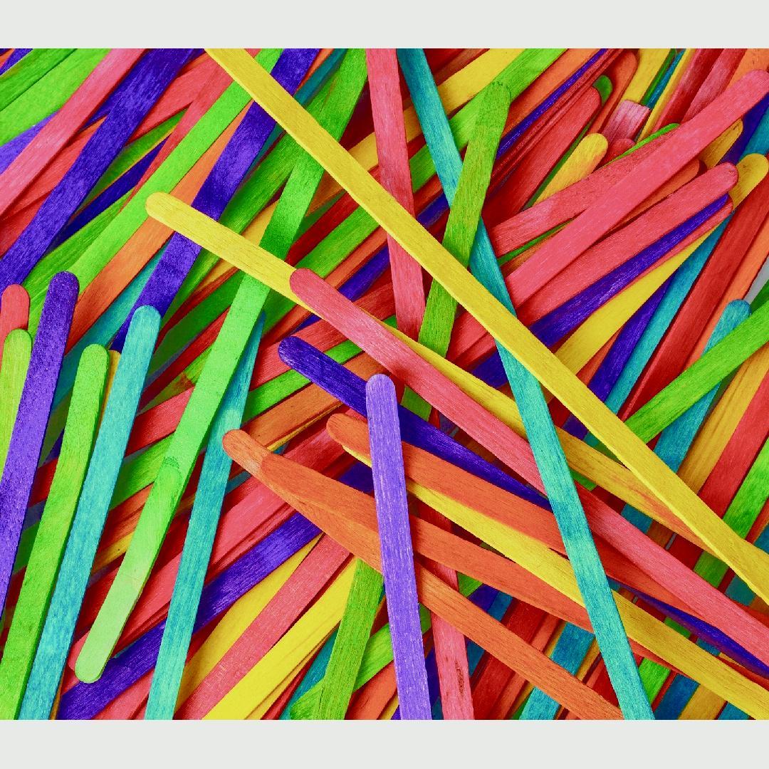 Coloured Wooden Spills (500pcs)