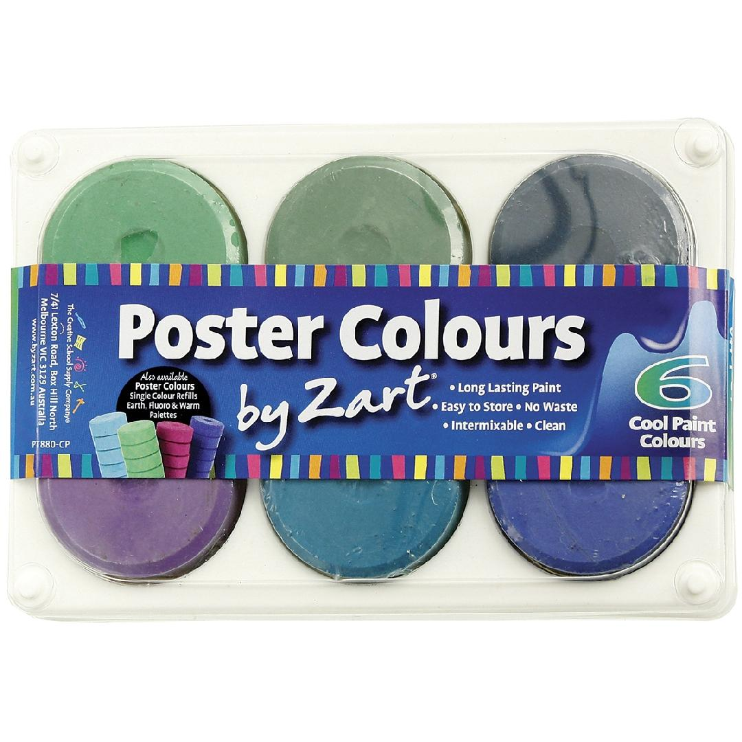 Paint Palettes - Cool Colour (6pcs)