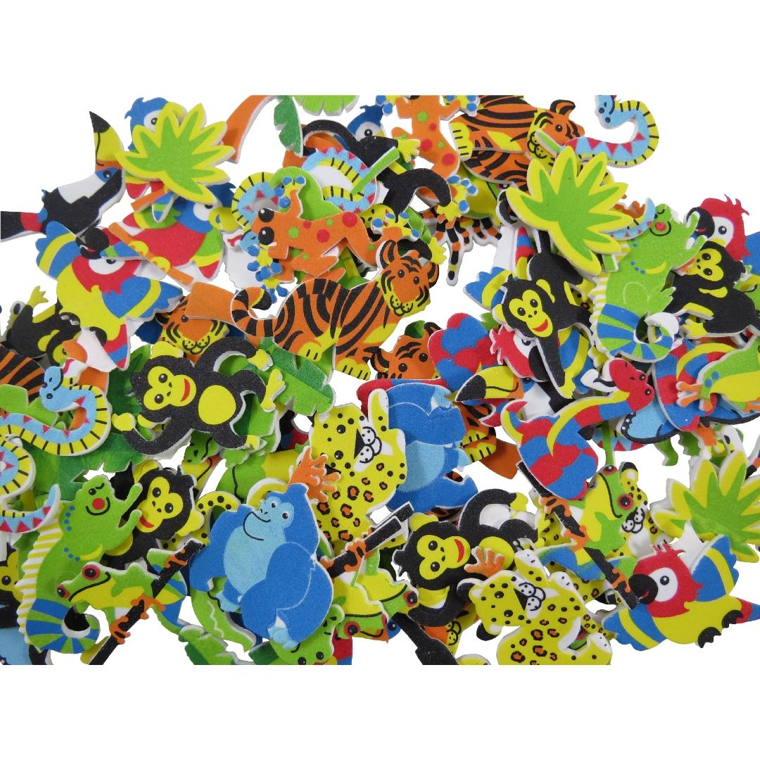 Foam Jungle Stickers (100pcs)