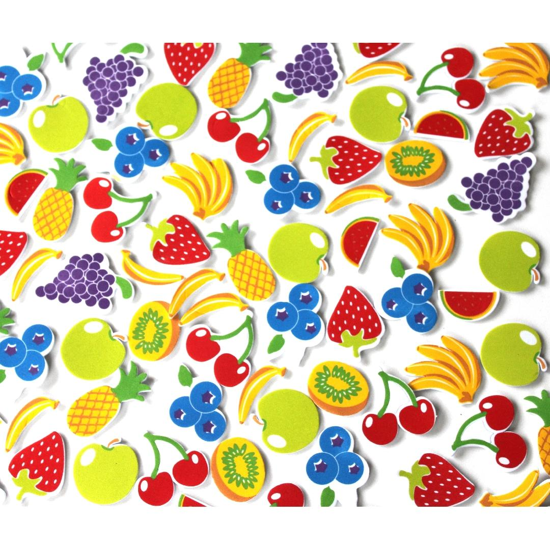 Foam Fruit Stickers (90pcs)
