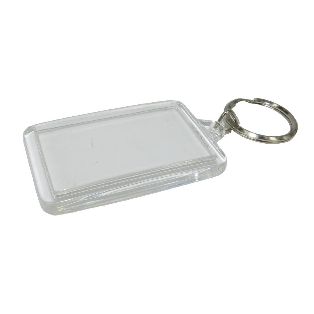 Rectangle Clear Key Tag (10pcs)