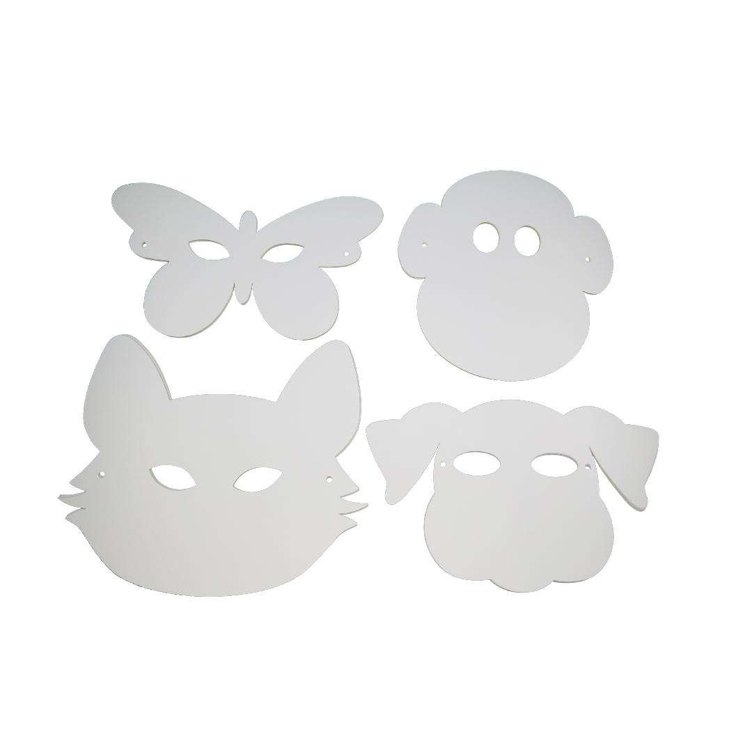Paper Animal Masks with Elastic (30pcs)
