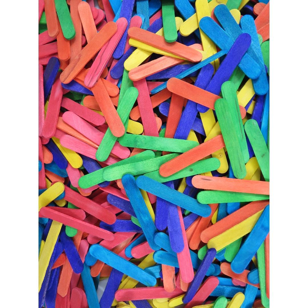 Mini Coloured Popsticks (1000pcs)