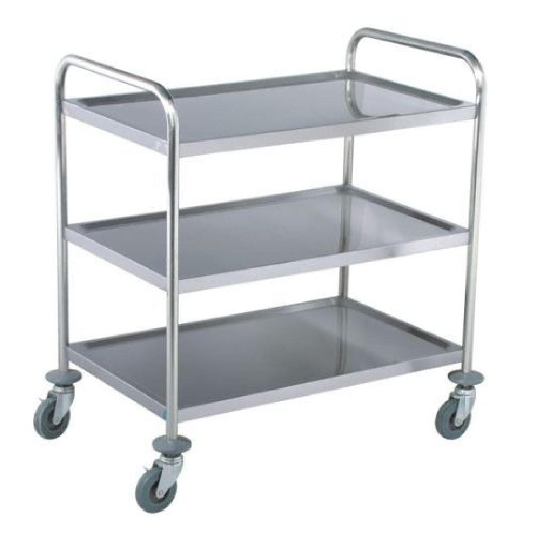 Stainless Steel Utility Trolley 3 Shelves