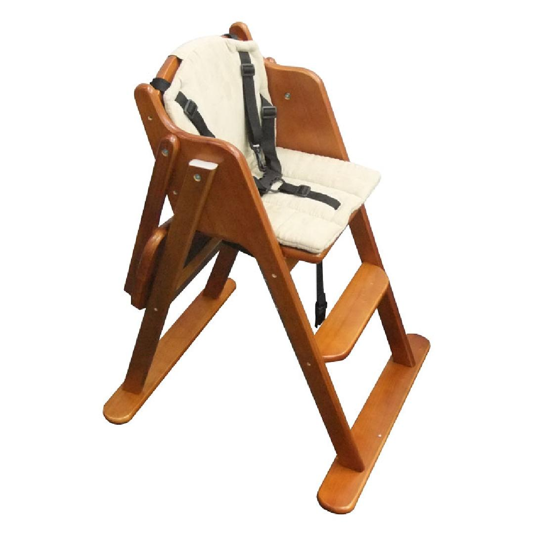 Natural Wooden Highchair with Cushion