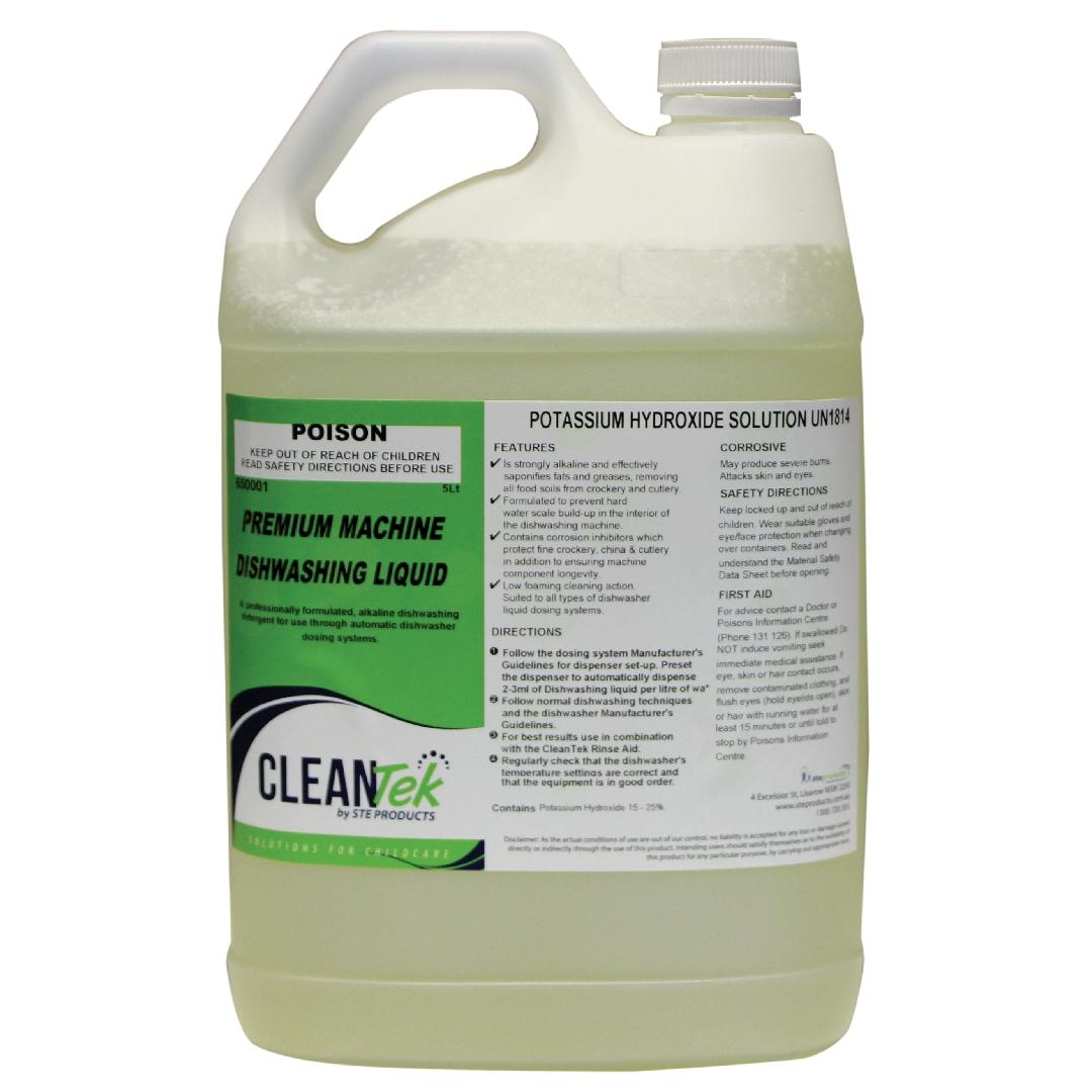 CleanTek Premium Dishwashing Liquid (5L)