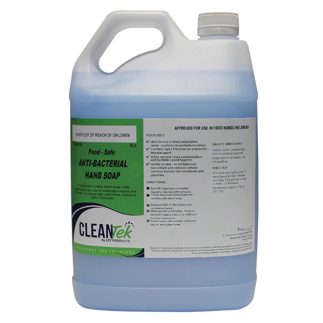 CleanTek Food Safe Antibacterial Hand Soap (5L)