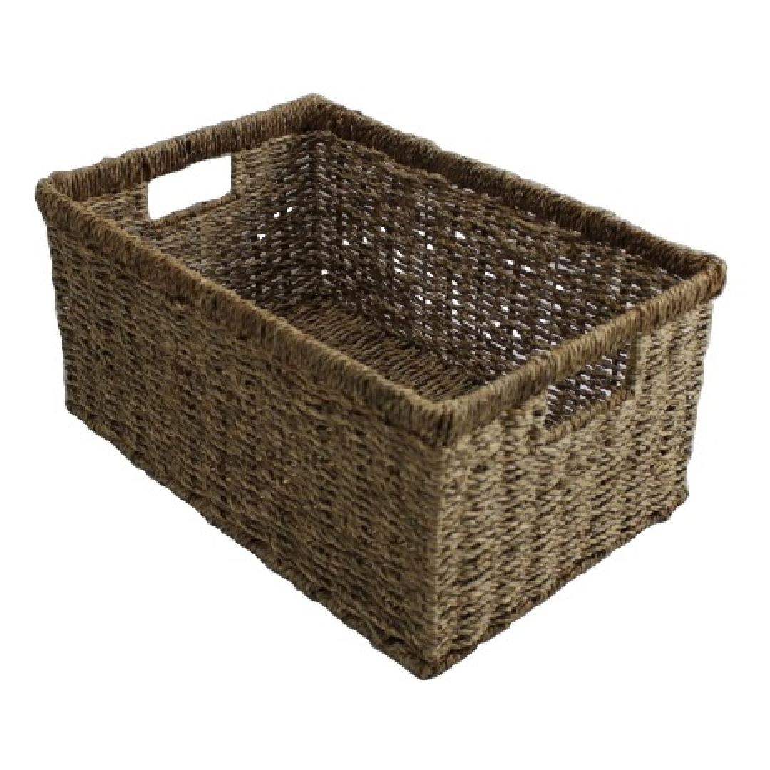 Small Rectangle Seagrass Basket 39x26.5x18.5cm