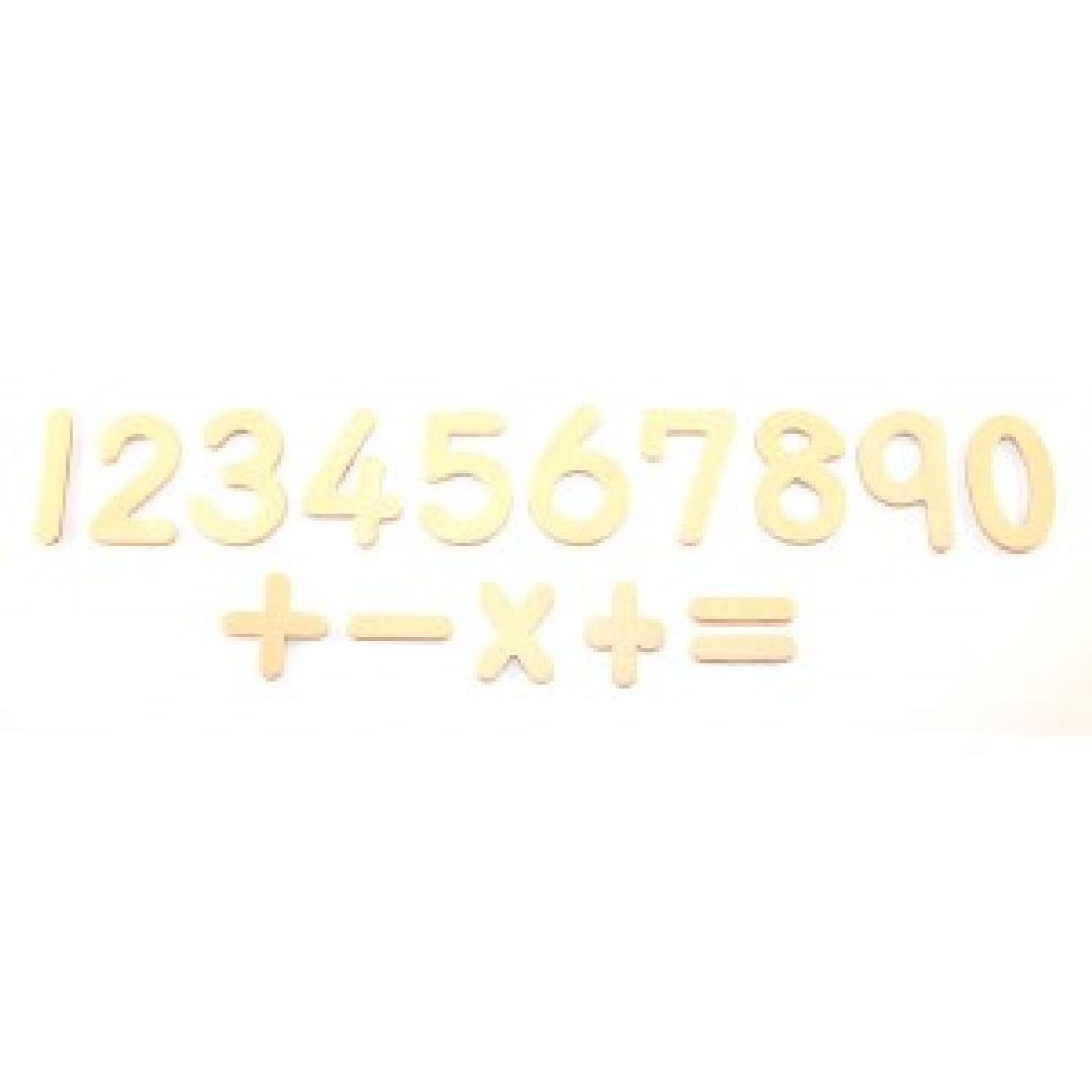 Wooden Numbers & Symbols (26pcs)