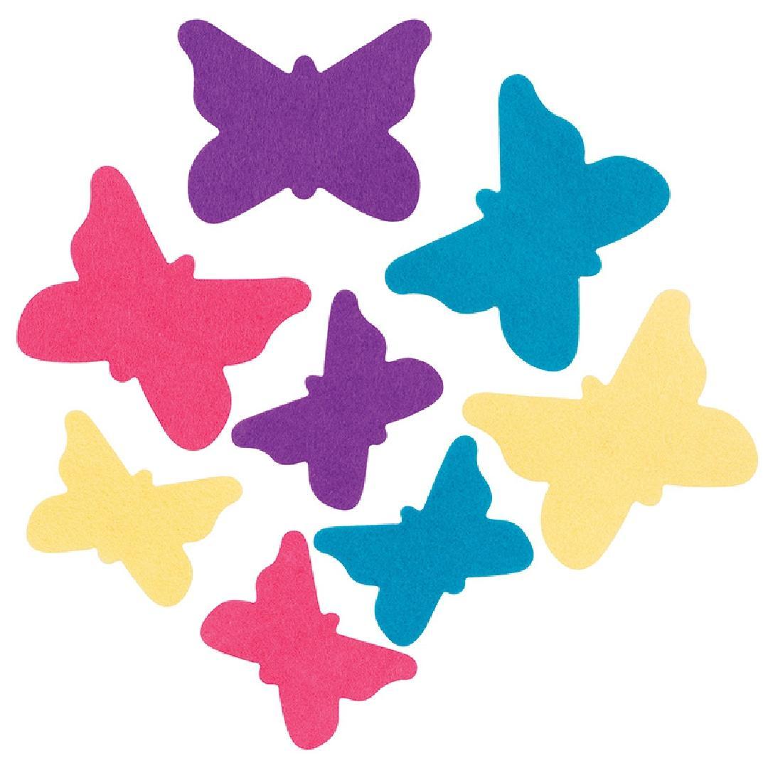 Adhesive Felt Butterflies (28pcs)