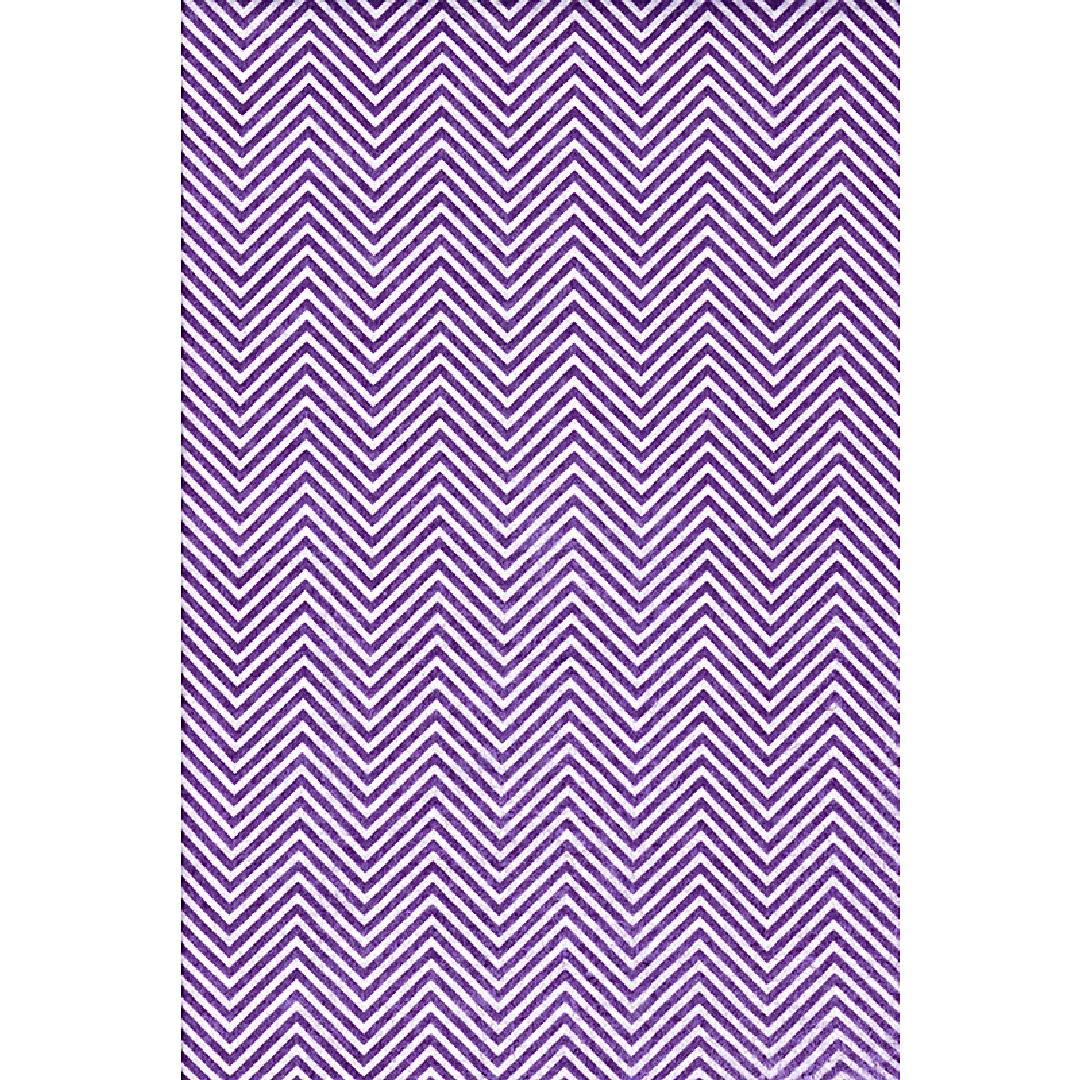 Felt Sheets - Purple & White Chevron (10pcs)