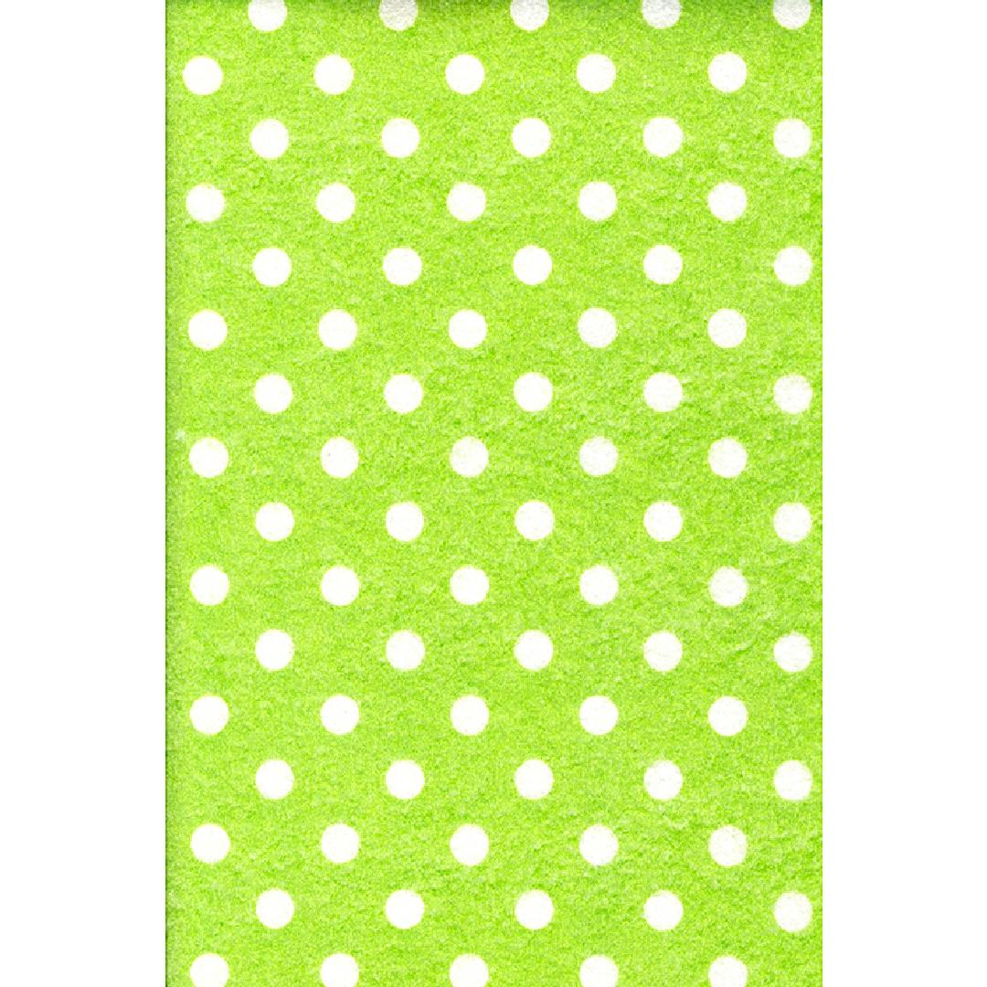 Felt Sheets - Green with Spots (10pcs)