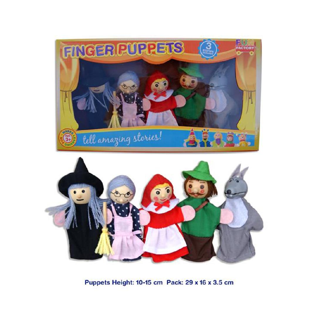 Little Red Riding Hood Puppets with Storybook (6pcs)