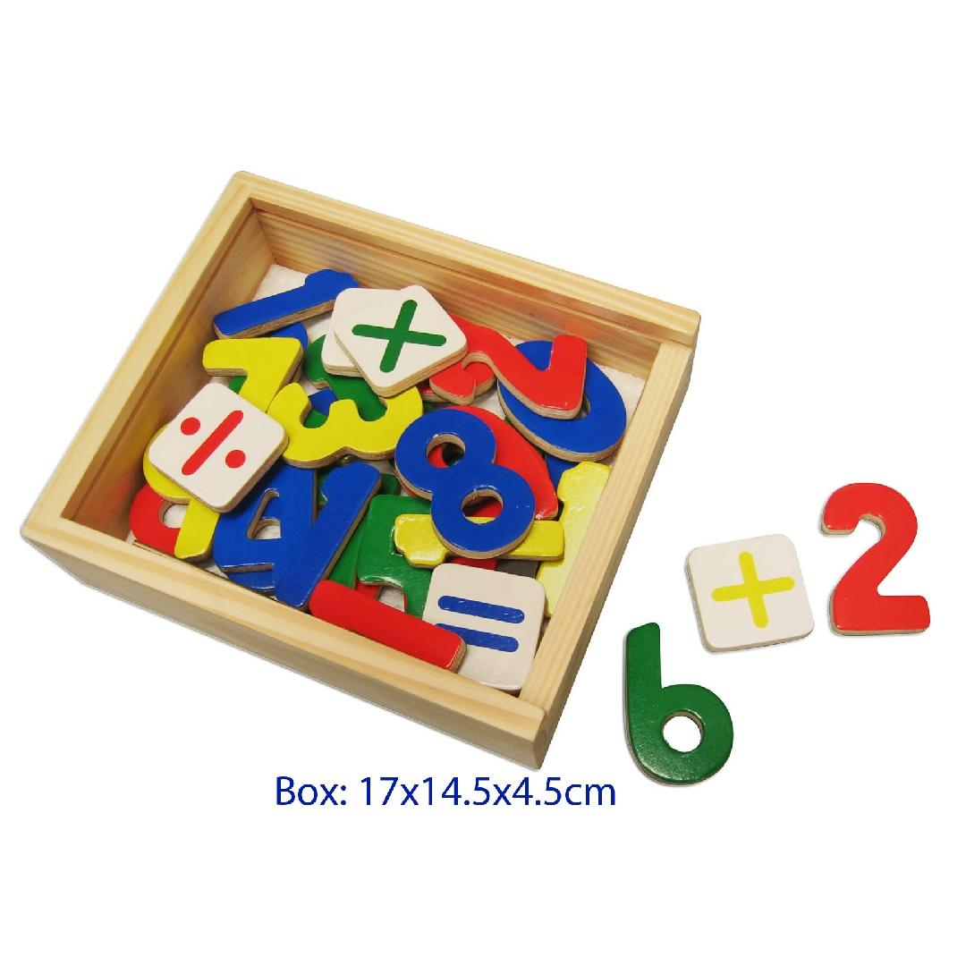 Wooden Magnetic Numbers (37pcs)