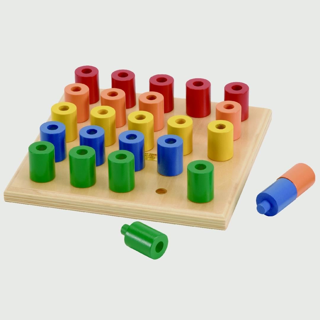 Build-up Peg Board & Pegs (26pcs)