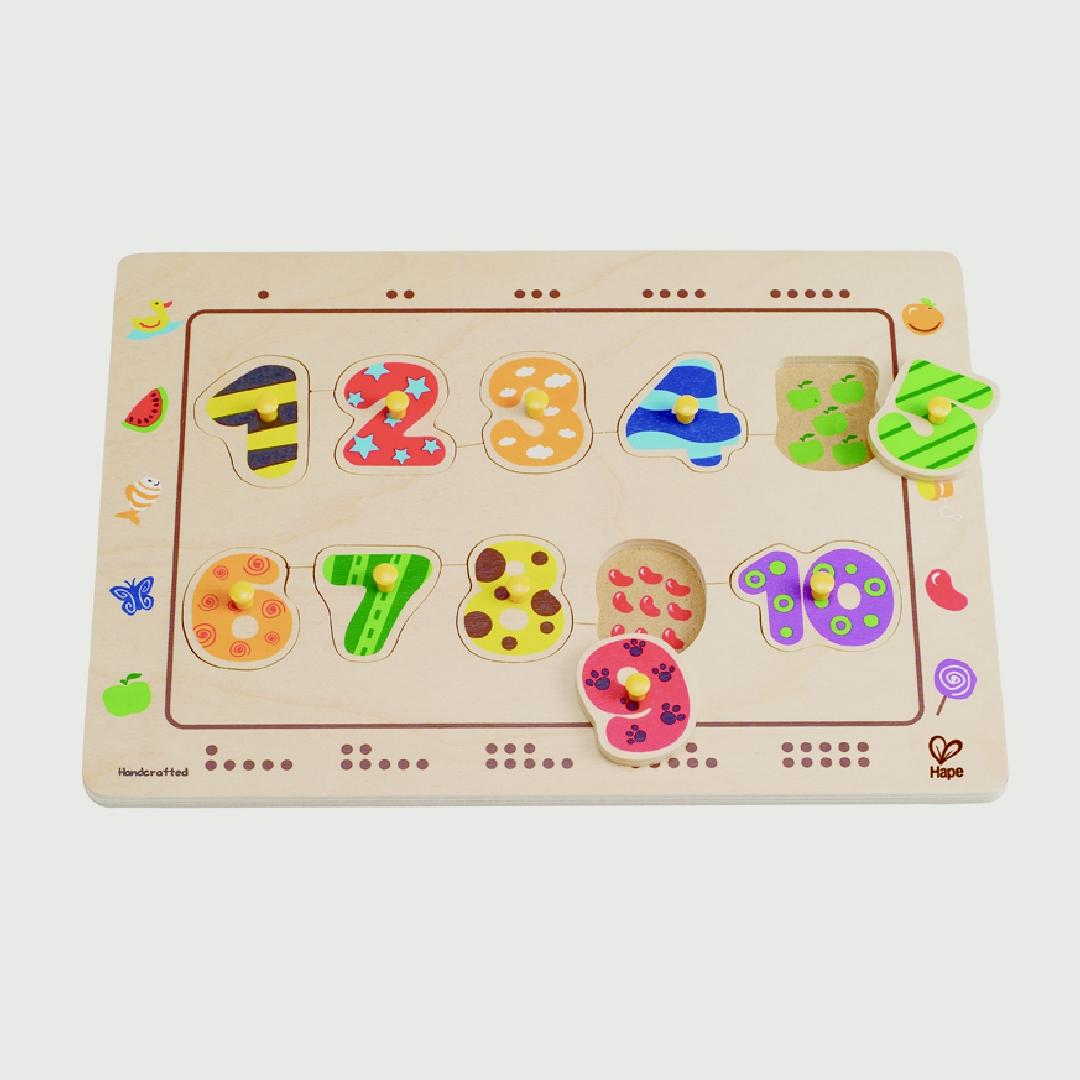 Numbers Matching Peg Puzzle