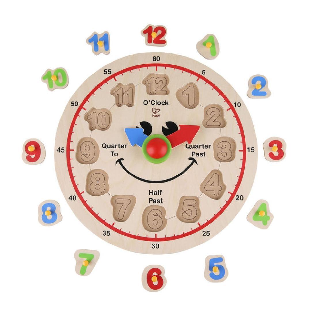 Hape Happy Hour Clock Puzzle (12pcs)